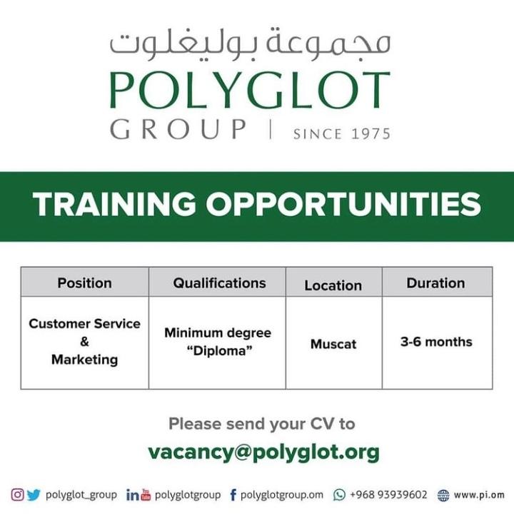 معهد بوليغلوت يعلن فرصة تدريب